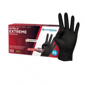 GUANTES Nitrilo EXTREME(Negro) talla XL-100 uds.
